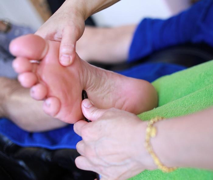 Underbar fotmassage